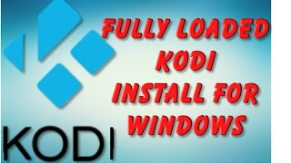 How to Install Fully Loaded Kodi XBMC on any Windows pc android mobile 1 click install app