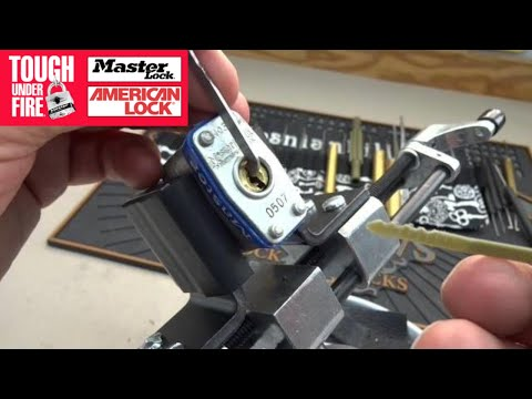 Opening a Master Lock with a zip tie. Why you should avoid cheap locks for your valuables