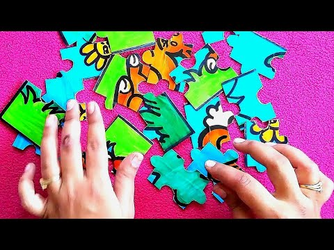 BEST OUT OF WASTE HACKS FOR KIDS || JigSaw Puzzle Making With Waste Cloth  Box
