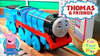 Thomas and Friends Toy Train Unboxing and Duplo Thomas with Peppa Pig Compilation Video for Kids