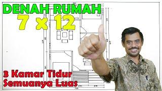 Denah Rumah Minimalis 7x12 Rumah Pedesaan Rumah Sederhana Youtube
