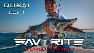 Слоу джиггинг и барракуда налоговик Морская рыбалка в Дубае День 1 Favorite World Fishing