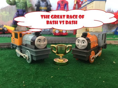 The Great Race Of Bash Vs Dash - Railway Race Set - Thomas And Friends Trackmaster