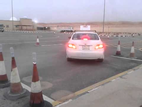PARALLEL PARKING IN DALLAH DRIVING SCHOOL - ALKHARJ,SAUDI ARABIA