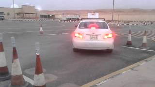 PARALLEL PARKING IN DALLAH DRIVING SCHOOL - ALKHARJ,SAUDI ARABIA