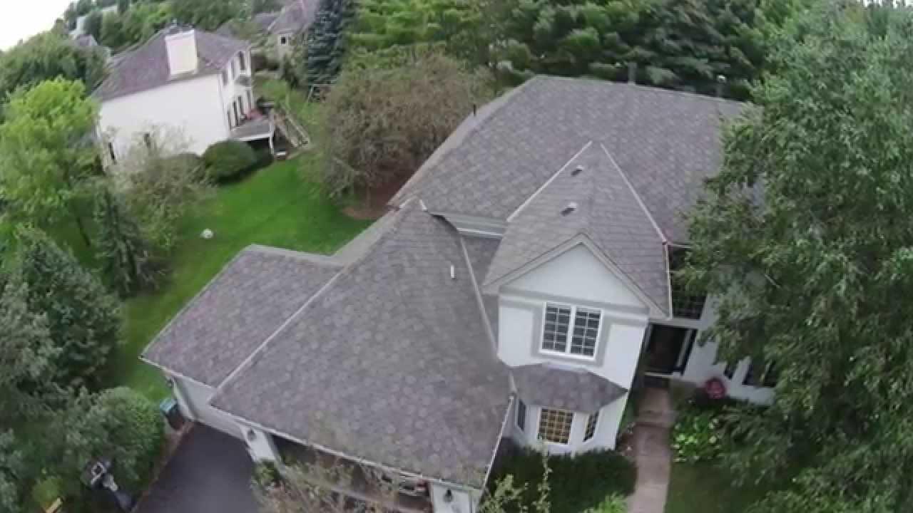 Aerial view from drone gaf designer sienna in eden pr for Gaf sienna shingles