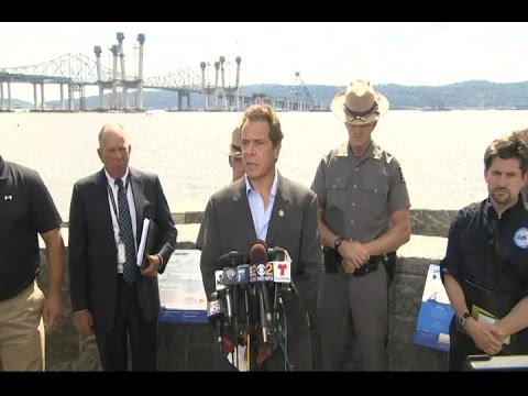 Gov. Cuomo at his press briefing in Tarrytown on Tuesday after the crain collapse.