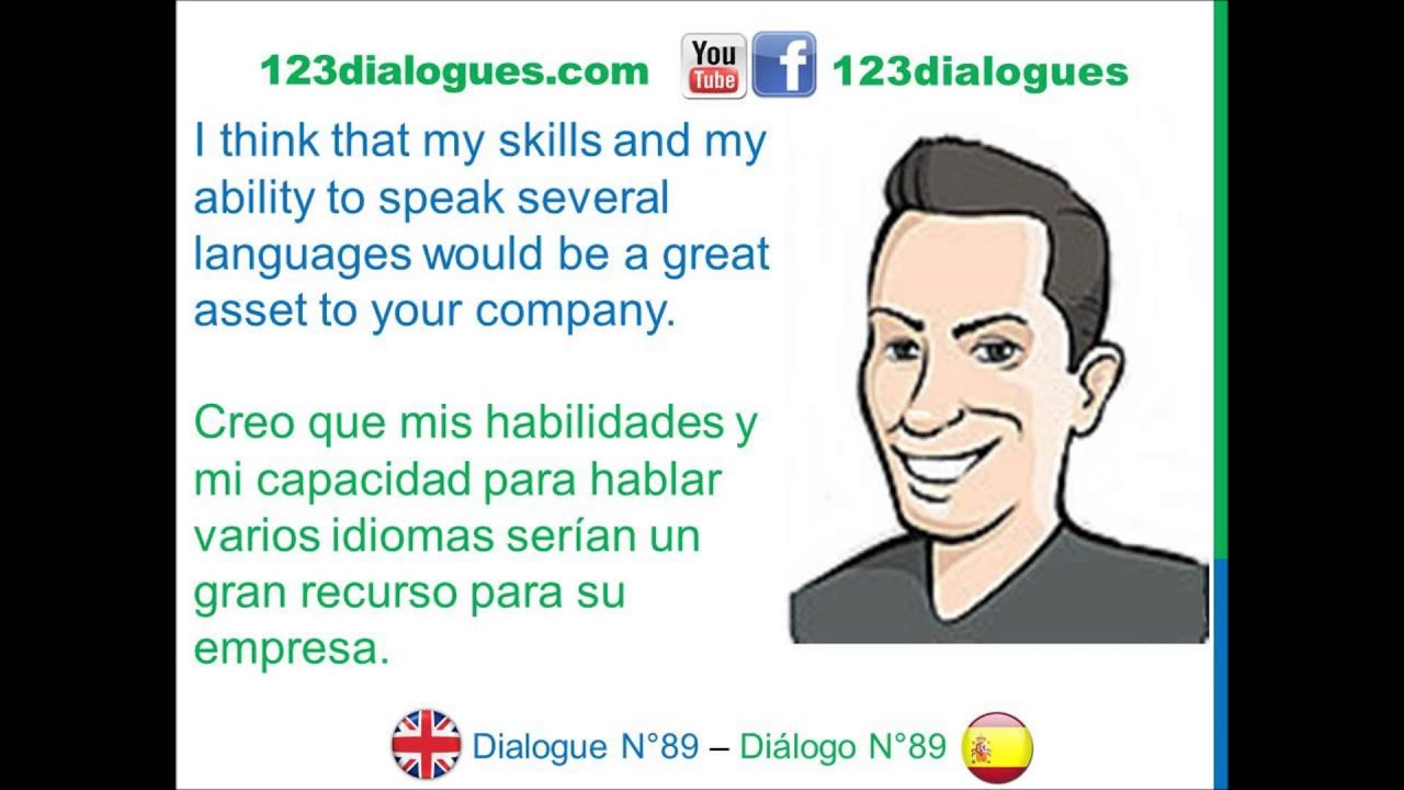 dialogue ingl eacute s spanish job interview entrevista de dialogue 89 ingleacutes spanish job interview entrevista de trabajo