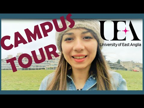 UEA Campus Tour! Walk around UEA with me