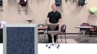 (Model Numbers 182003, 182003-UF) Anatomy Swivel Chair/Stool