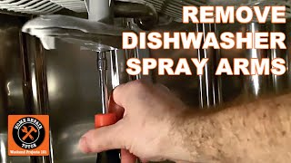 Dishwasher Not Cleaning-How to Remove Spray Arms - by Home Repair Tutor
