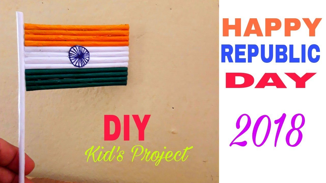 Craft For Flag Of India: How To Make Tiranga Flag By