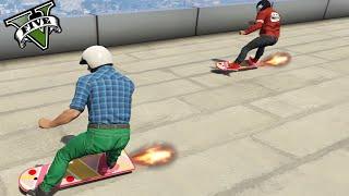 GTA V Online - La Carrera De Los Skaters Retrasados !! - GTA 5 MODS - ElChurches