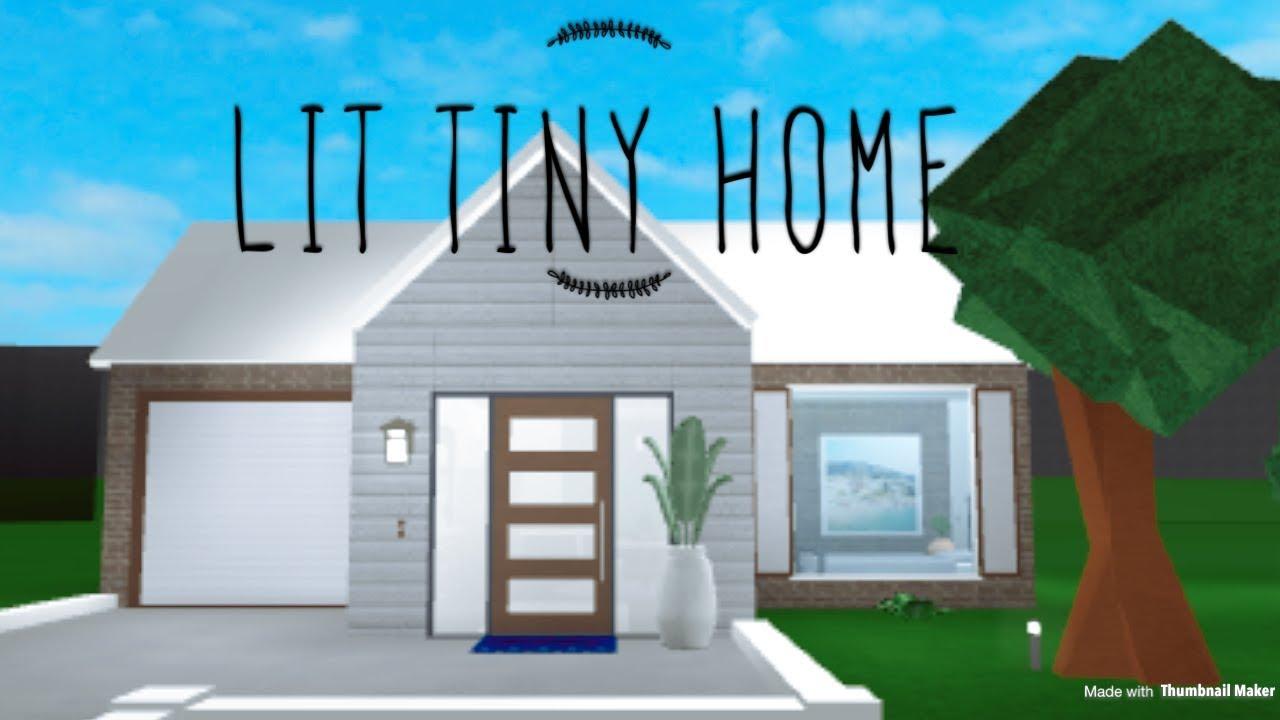 Bloxburg Lit Tiny House Youtube