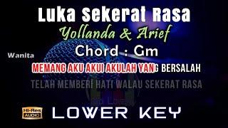 Karaoke Luka Sekerat Rasa (Low Key) - Yollanda & Arief Tanpa Vokal