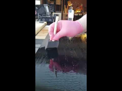 Ebonizing wood India ink