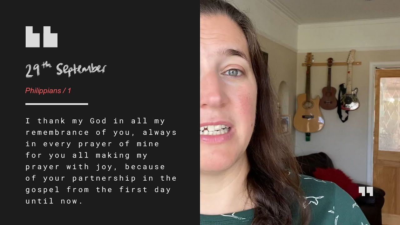 Daily Devotion with Kate Ball // Philippians 1 Cover Image