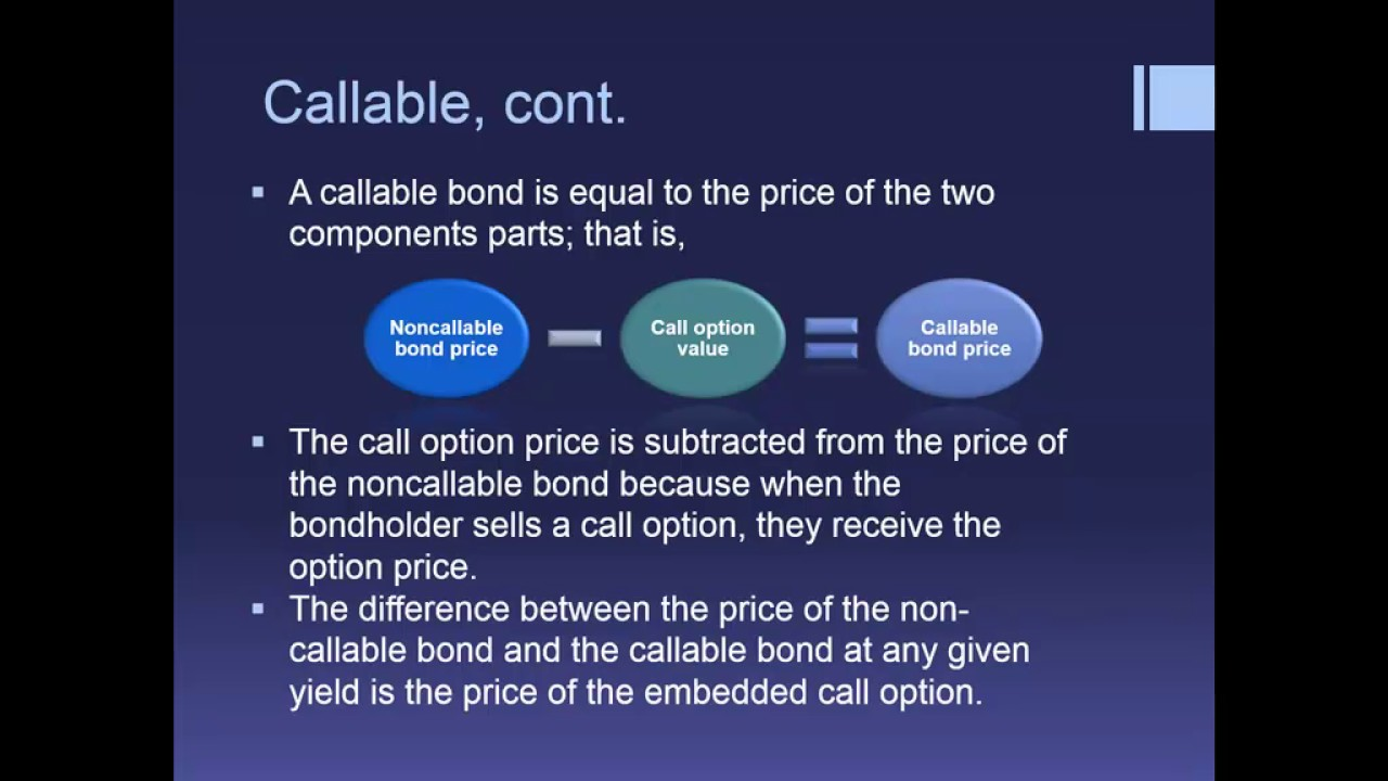 Analysis Of Embedded Options In Bonds Part 2