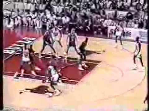 Michael Jordan Blows By Cleveland Cavaliers