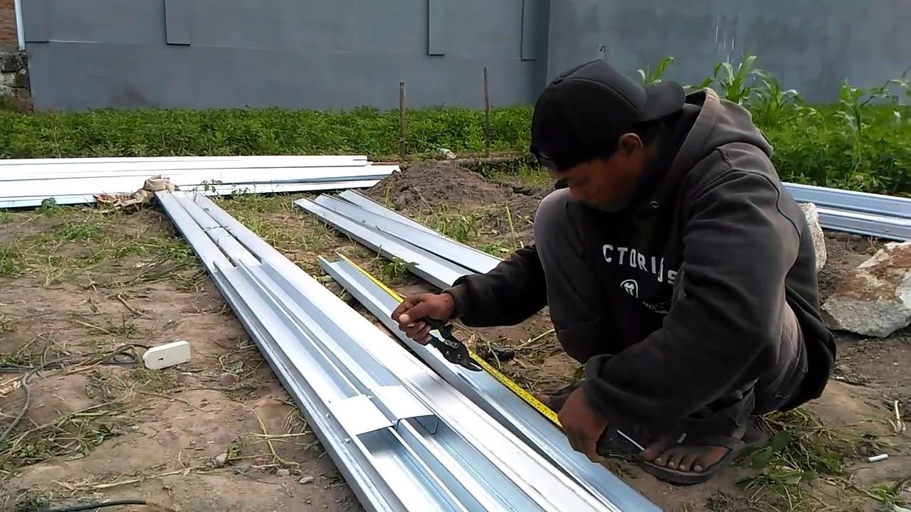 kanopi baja ringan tanpa tiang penyangga cara bikin dari part 1 youtube