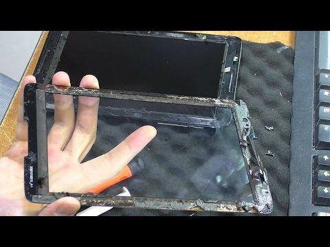 Как снять тачскрин без повреждения. Планшет Lenovo IdeaTab A5500. Замена матрицы