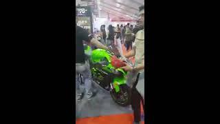 Kawasaki zx10r killer exhaust sound || at autocar expo 2018 bkc mumbai