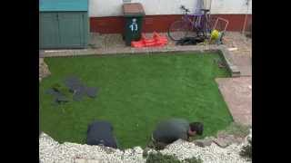 Artificial Grass Install in Scotland - Full installation, how to install an artificail lawn!
