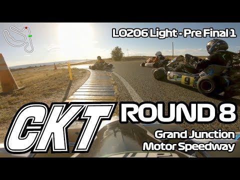 Colorado Karting Tour 2019 - Round 8, Grand Junction Motor Speedway: LO206 Light Pre-Final 1
