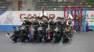 Смотр-конкурс военных оркестров в Хабаровске — оркестр штаба ВВО