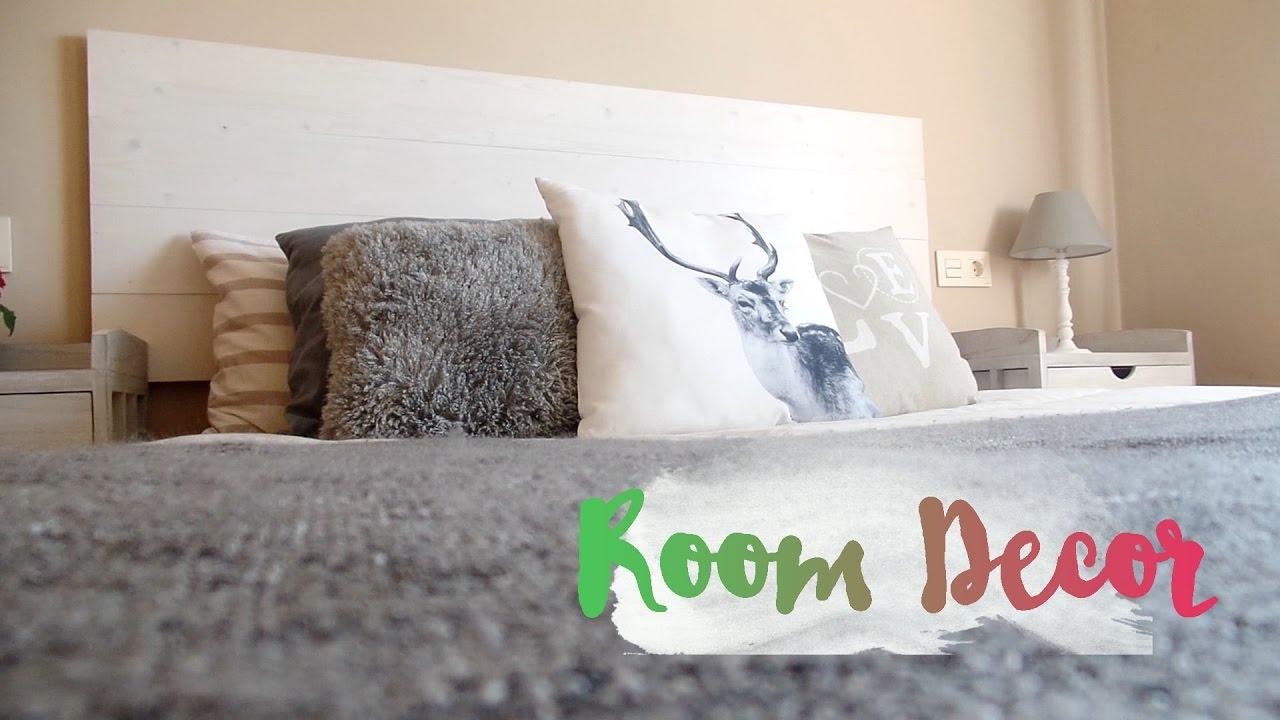 Room decor i como hacer un cabecero de madera estilo - Hacer cabecero de madera ...