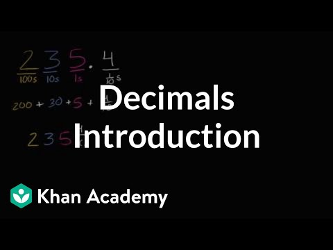 Introduction To Decimals | Decimals | 4th Grade | Khan Academy