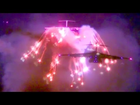 Fireworks On C-17 Aircraft! Awesome Aerial Flares