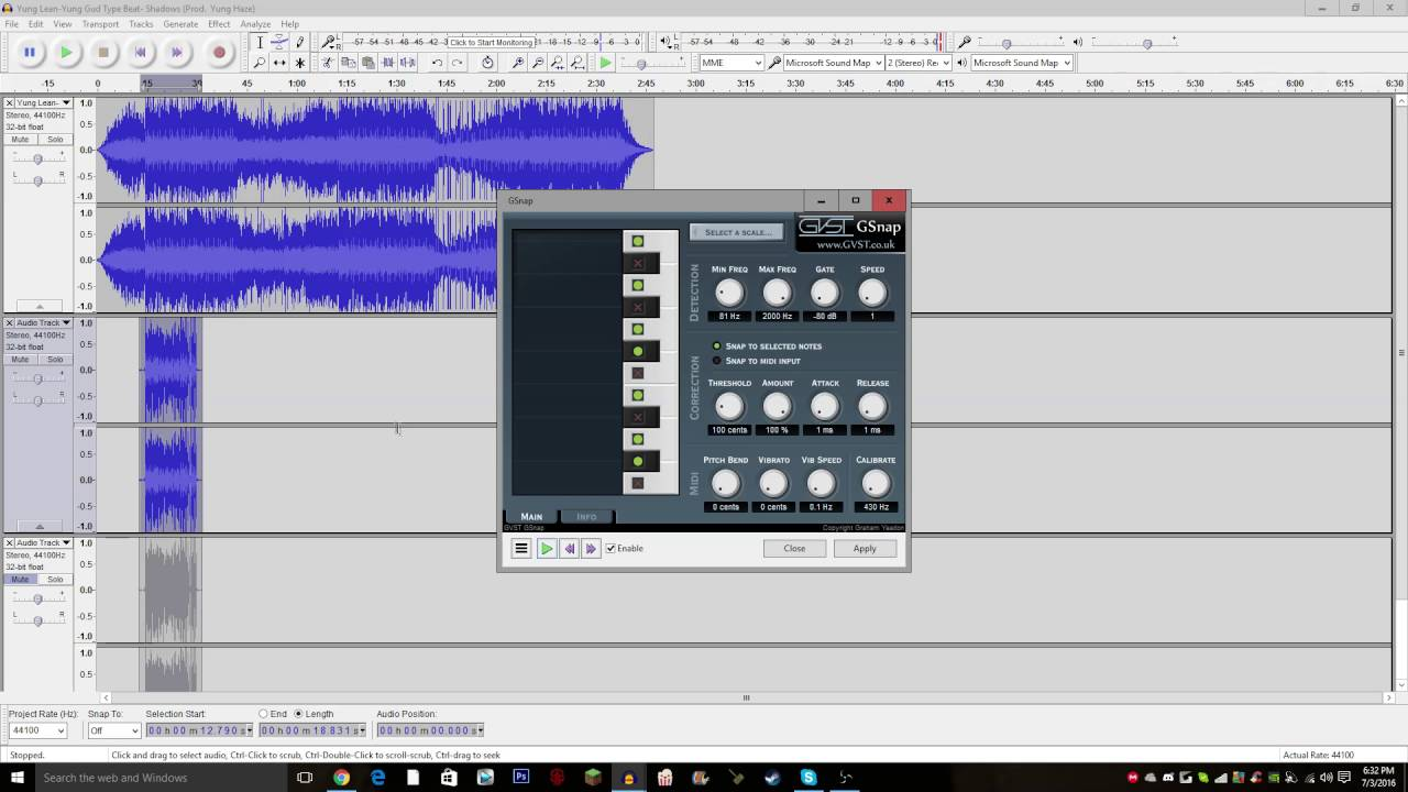 HOW TO AUTOTUNE ON AUDACITY + SETTINGS