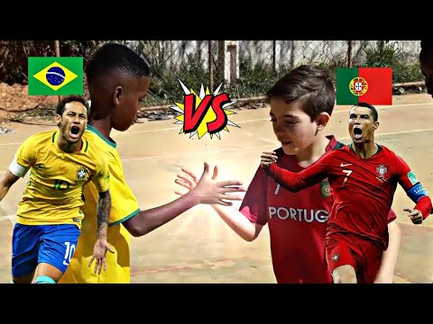 Brasil vs Portugal (Copa do Mundo de  crianças) Mundialitalo 2018