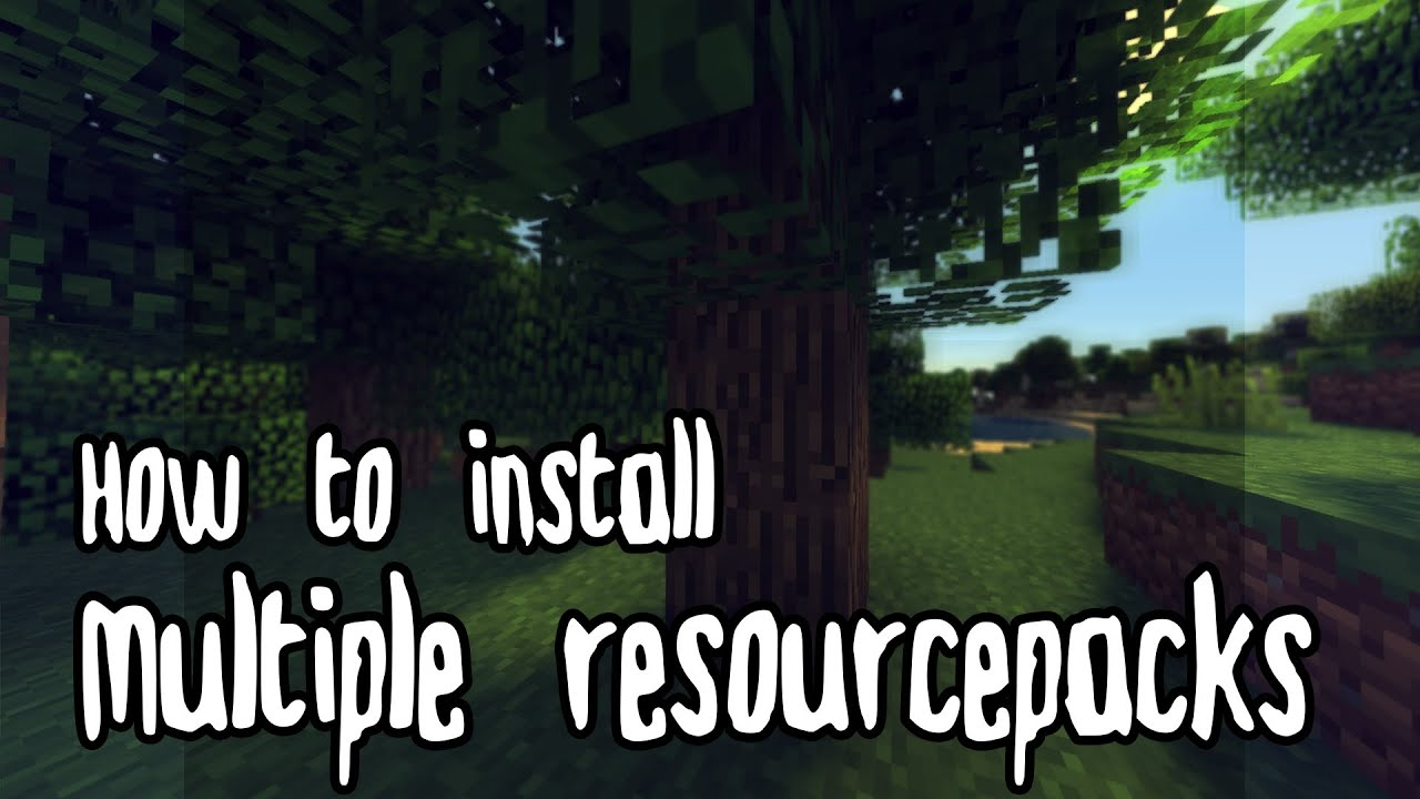 how to install multiple resource packs youtube