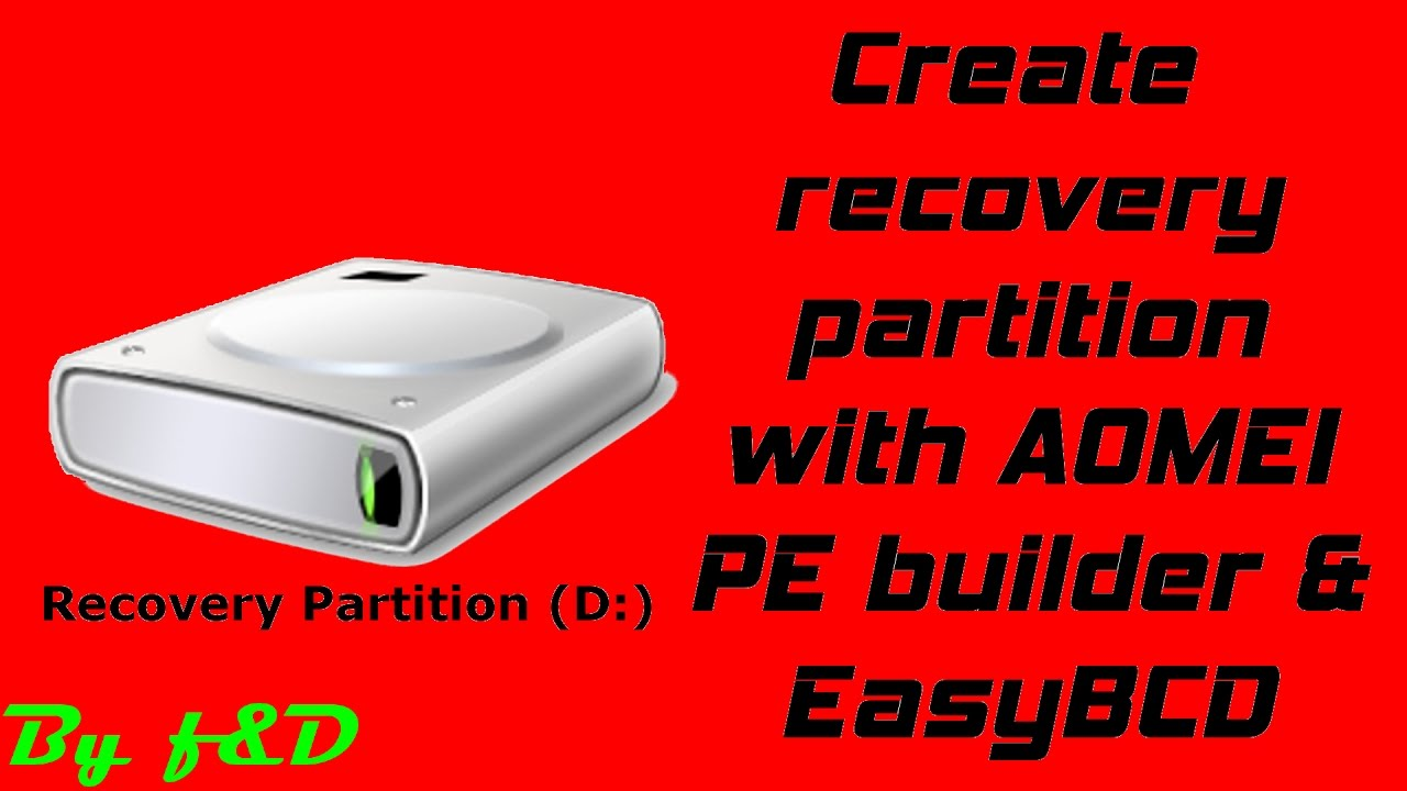create windows 7 recovery partition