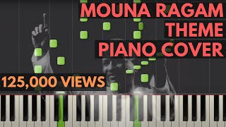 Mouna Ragam Theme Piano Cover