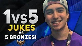 1vs5 - JUKES vs 5 BRONZES!