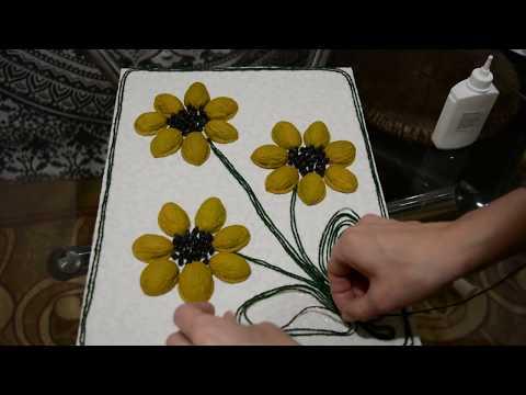 Цветы поделки из природных материалов своими руками