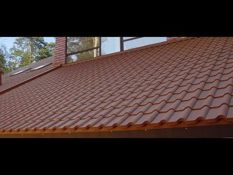 Монтаж керамопласта на крыше веранды
