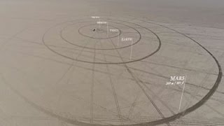 Guys build amazing 7 mile long model of the solar system, to scale