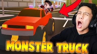 KID BUYS THE MONSTER TRUCK IN JAILBREAK?! (Roblox Jailbreak)