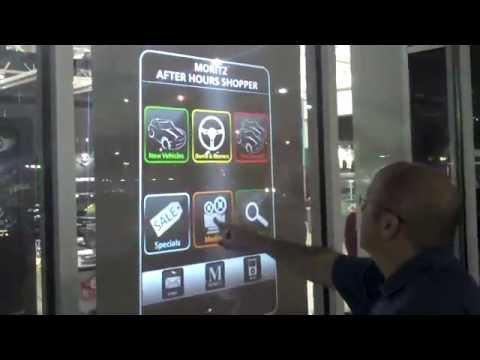 Interactive Window at Mini Showroom in Dallas, Texas