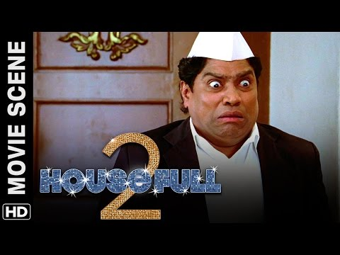 Johnny Lever catches Akshay romancing with Asin | Housefull 2 | Movie Scene