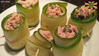 Cucumber Tuna Rolls Recipe