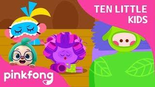 Ten Little Kids in a Bed | Ten Little Kids Songs | Pinkfong Songs for Children