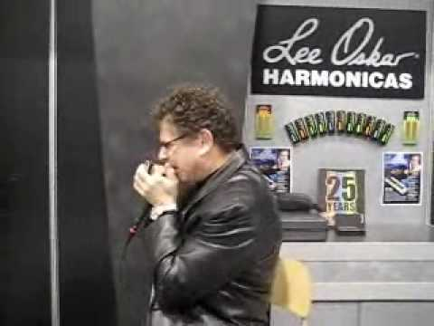 Lee Oskar Playing Harmonica Celebrating his 25th Anniversary in 2008 at the NAMM Show in Anaheim