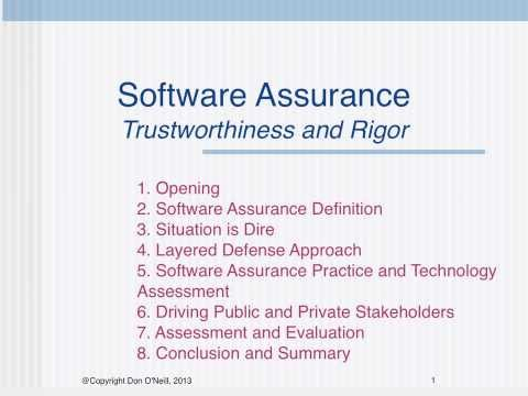 2014 SEPG Software Assurance Submission