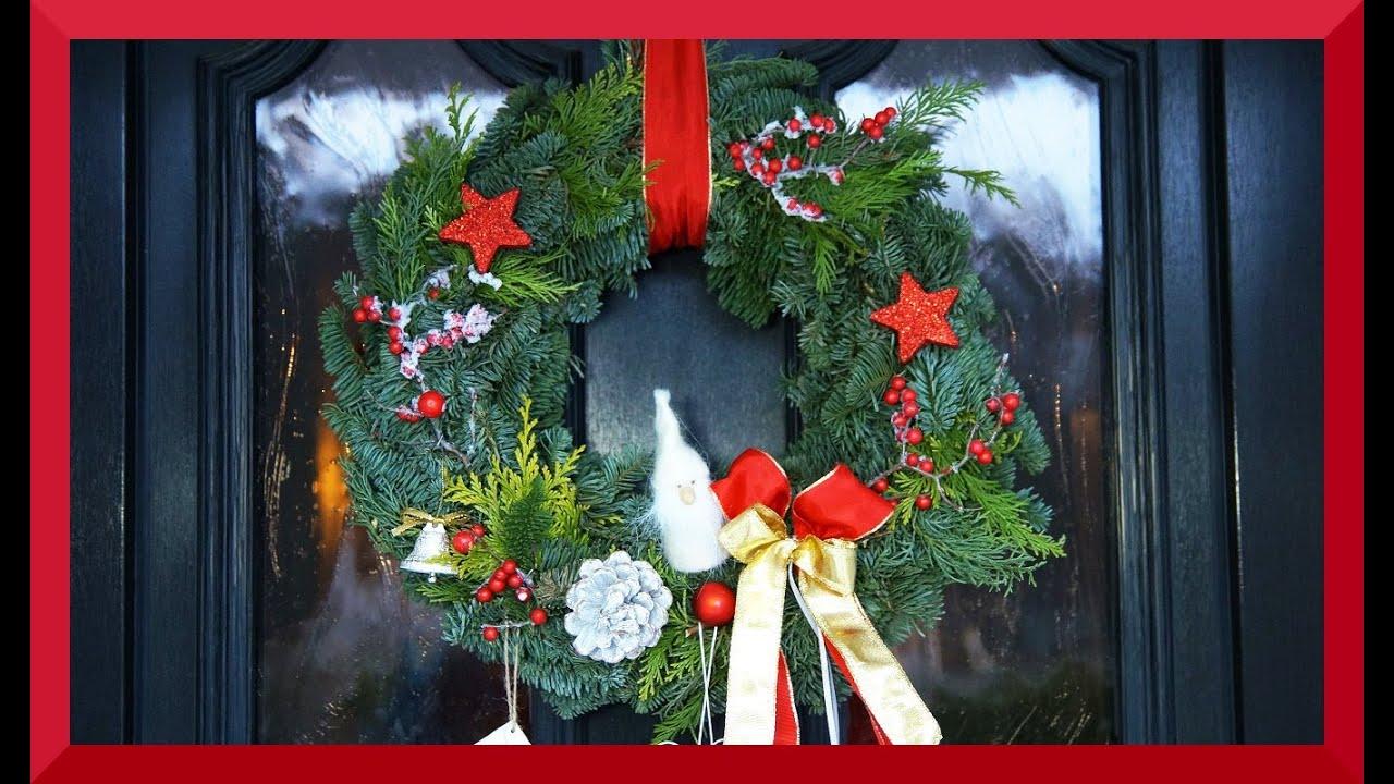Turkranz Basteln Weihnachten Frobelstern Lichterkette