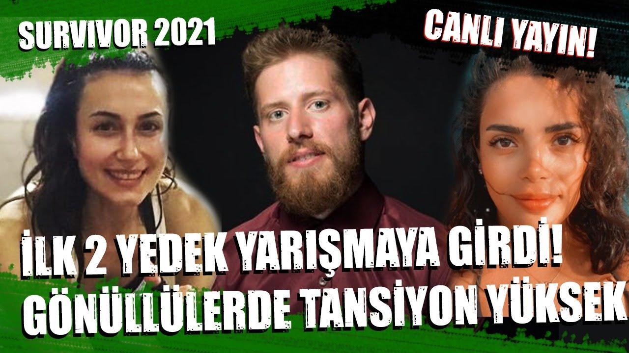 SURVIVOR 2021 İLK YEDEKLER GİRDİ! 1 AY YARIŞMACI AZALMAYACAK! GÖNÜLLÜLERDE ŞOK GERGİNLİK CANLI YAYIN